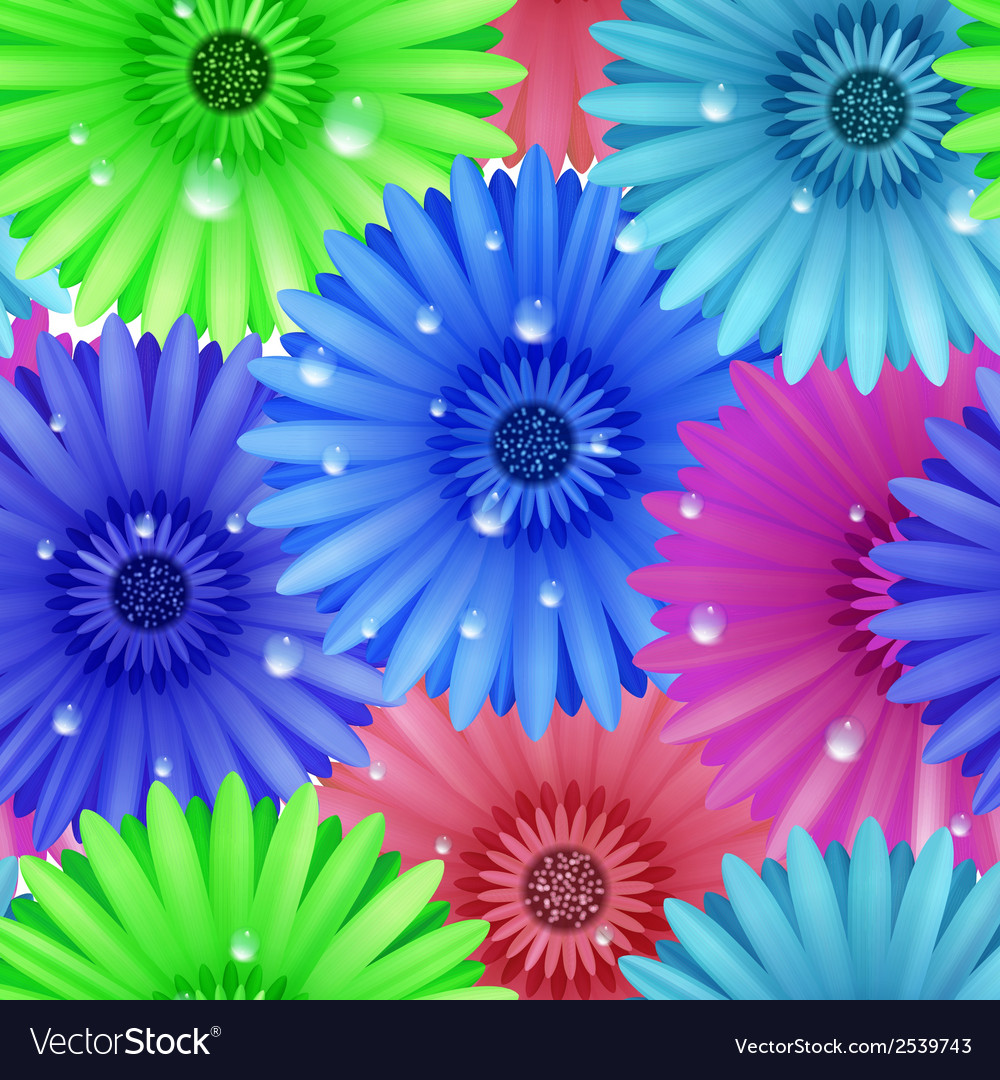 Seamless flower gerbera patter vector | Price: 1 Credit (USD $1)