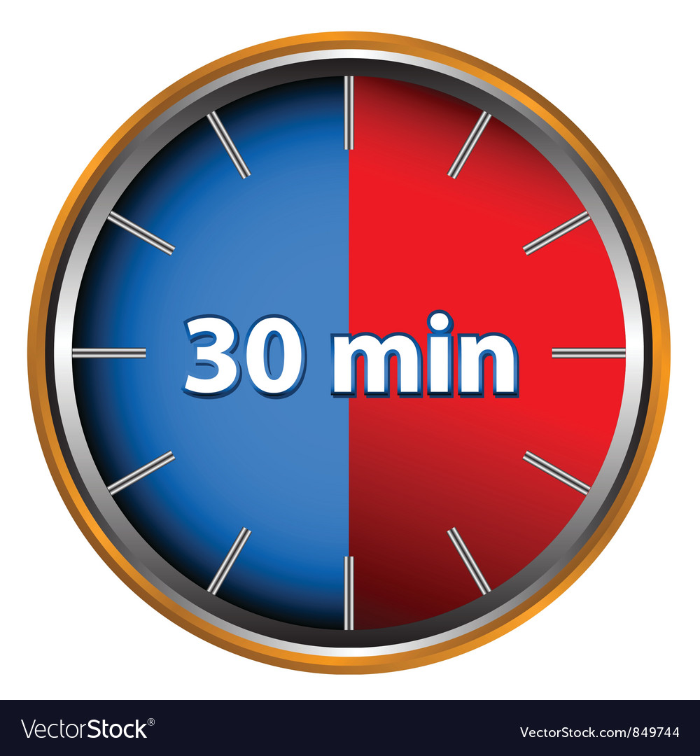 30 minutes vector | Price: 1 Credit (USD $1)