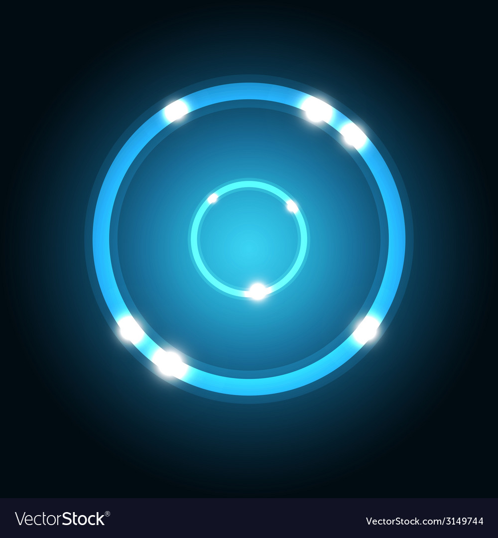 Abstract background with blue circle vector | Price: 1 Credit (USD $1)