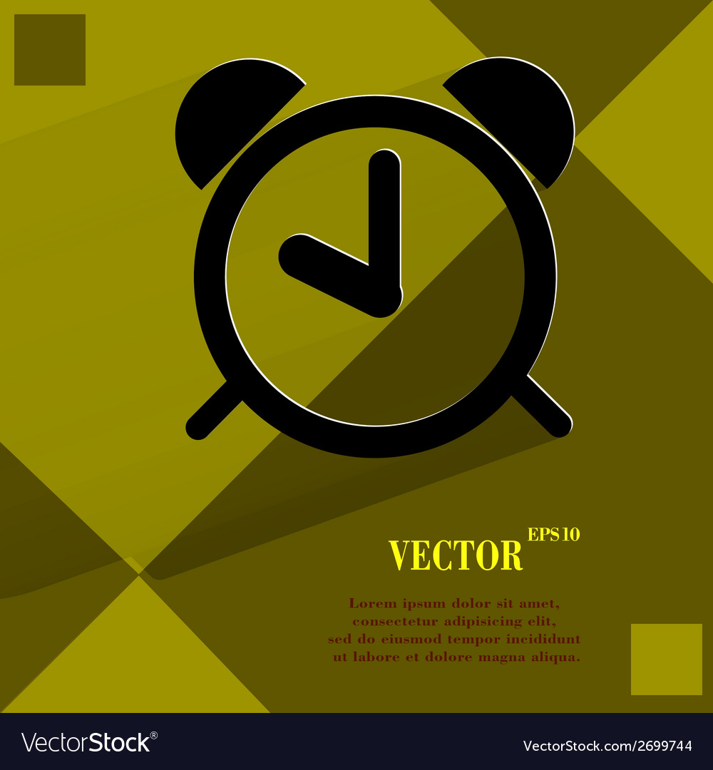 Alarm clock flat modern web design on a flat vector | Price: 1 Credit (USD $1)