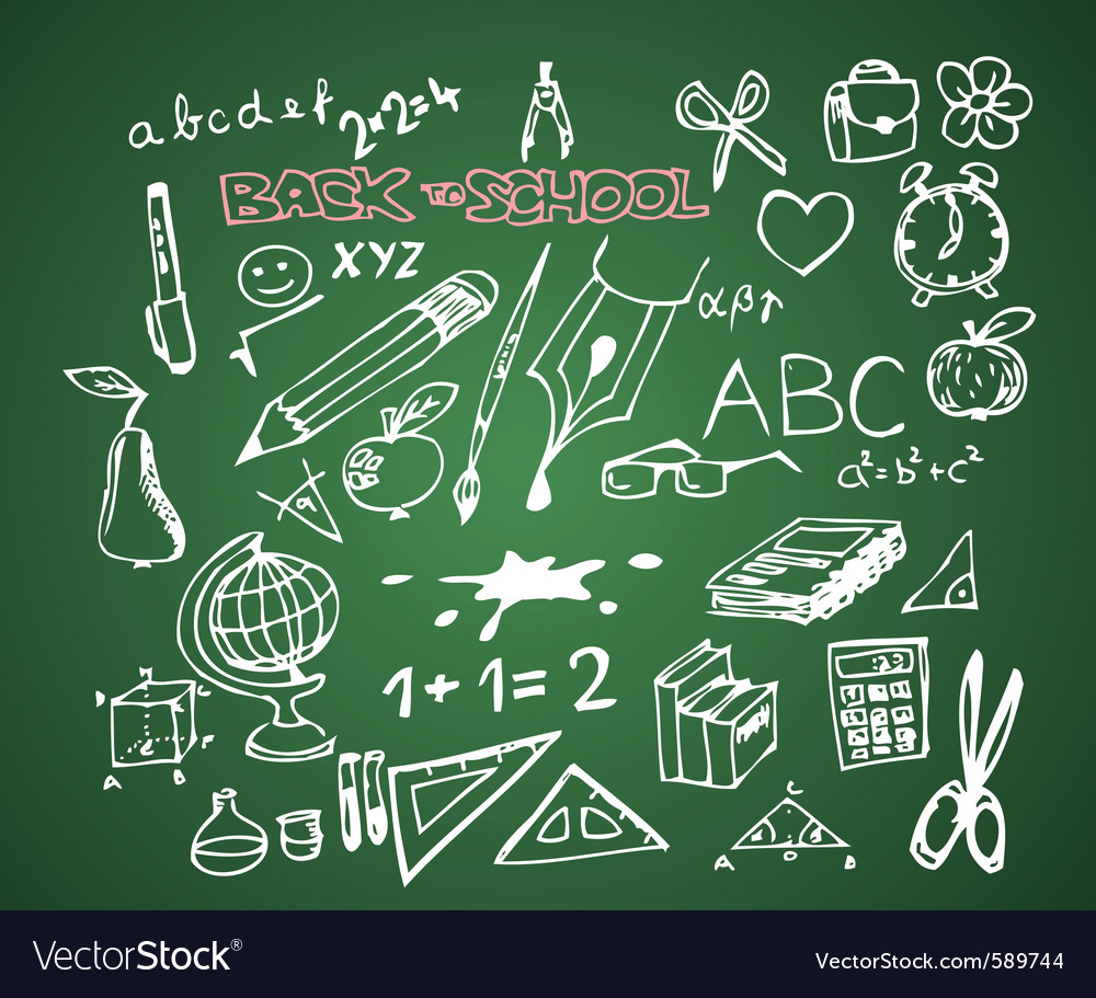 Back to school blackboard vector | Price: 1 Credit (USD $1)