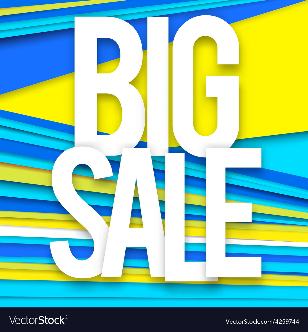 Big sale banner vector | Price: 1 Credit (USD $1)