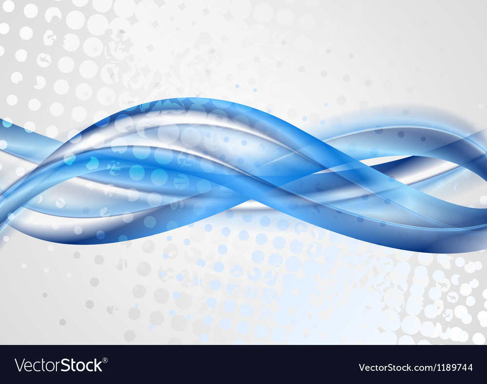Bright blue grunge waves design vector | Price: 1 Credit (USD $1)