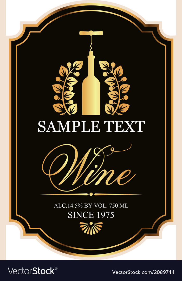 Label for wine vector | Price: 1 Credit (USD $1)