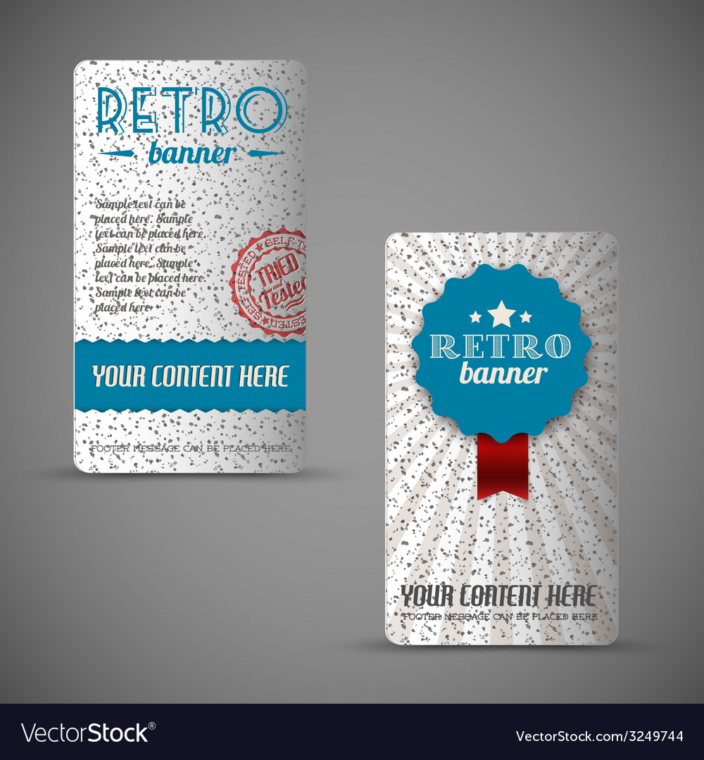 Old retro vintage grunge cards vector | Price: 1 Credit (USD $1)