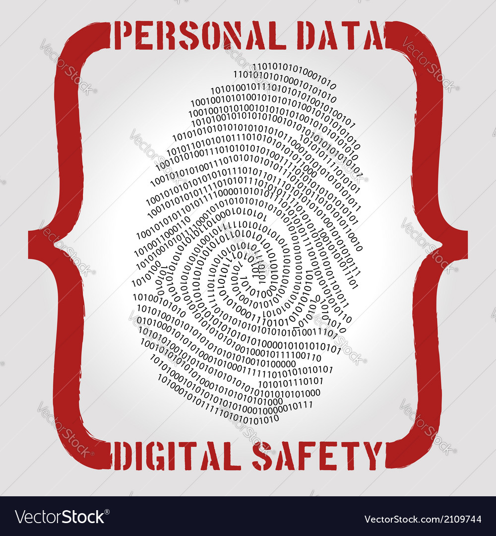 Personal data safety issues vector | Price:  Credit (USD $)