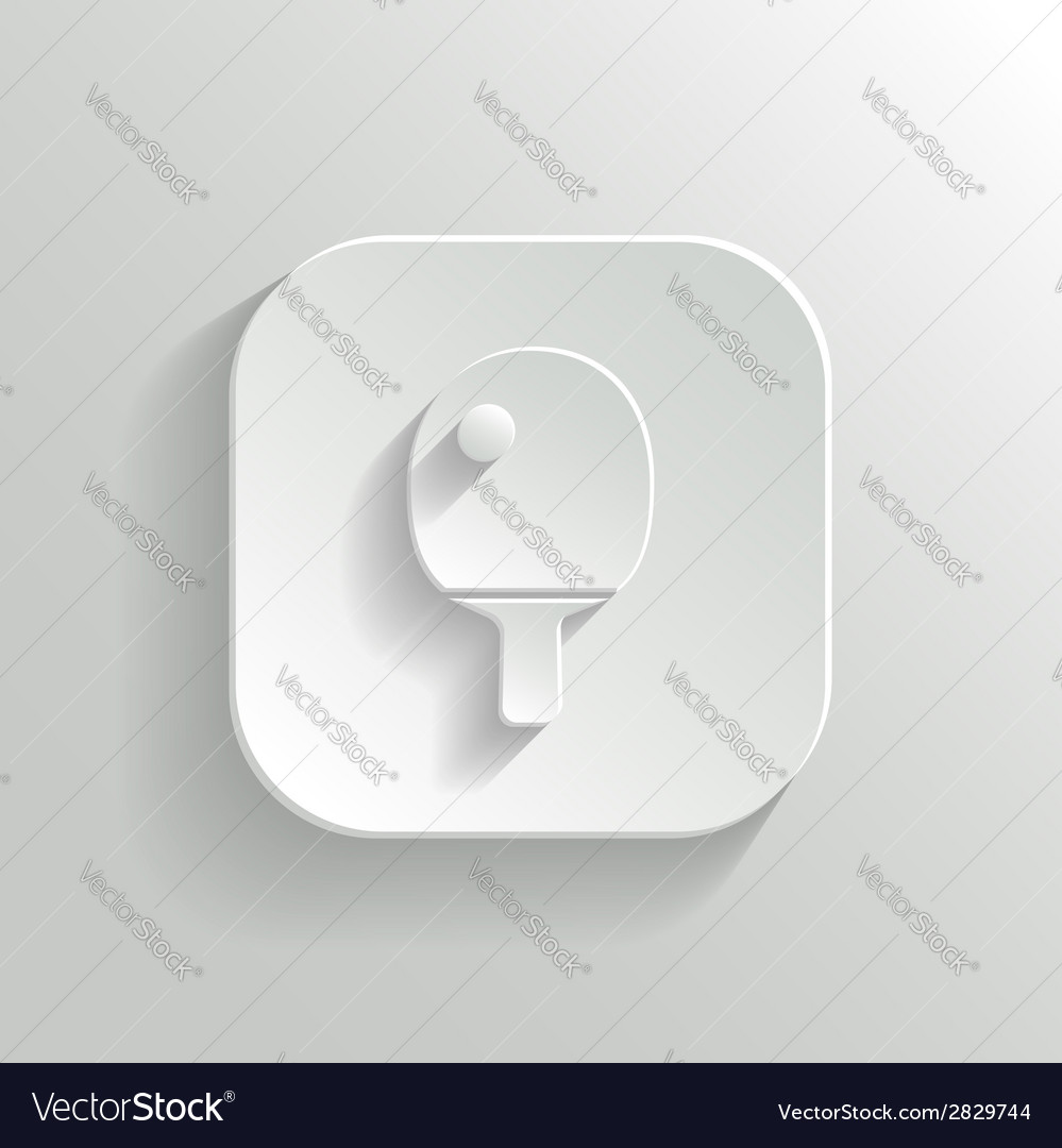 Ping pong icon - white app button vector | Price: 1 Credit (USD $1)