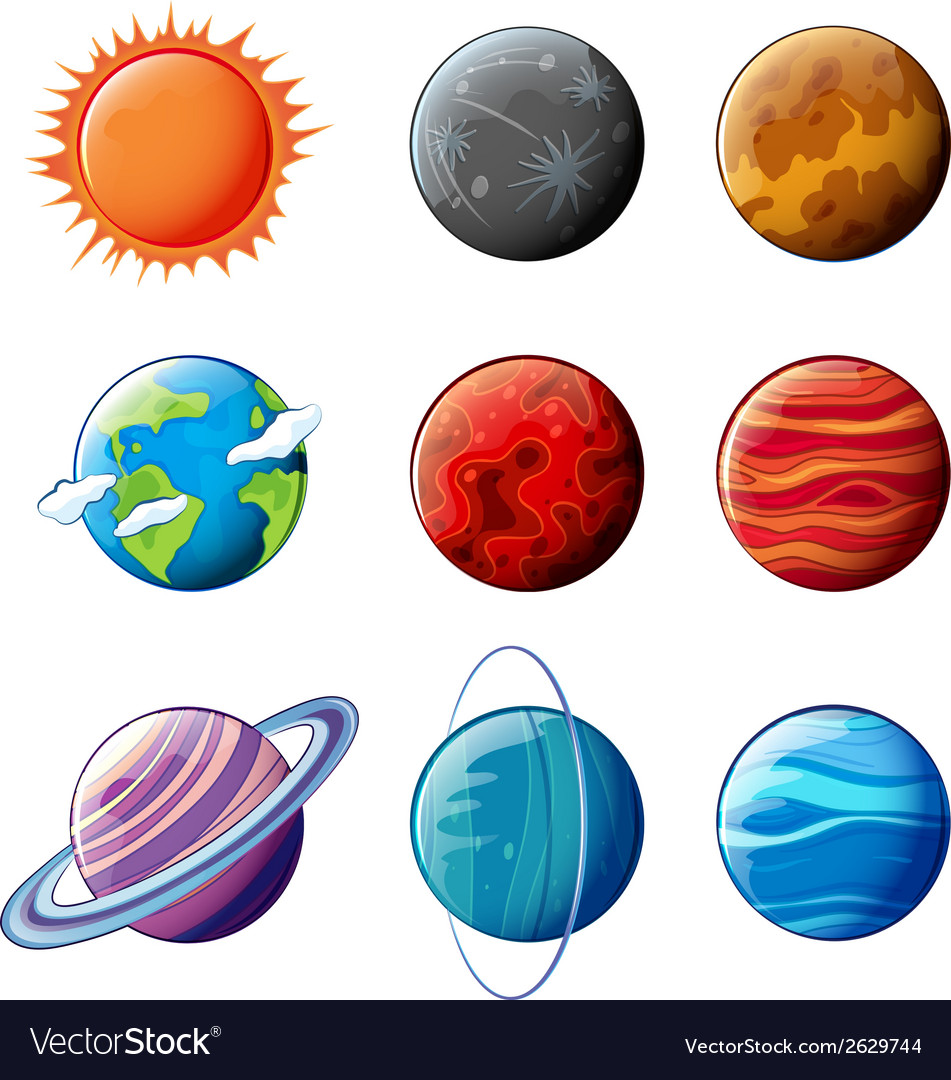 Planets of the solar system vector | Price: 1 Credit (USD $1)