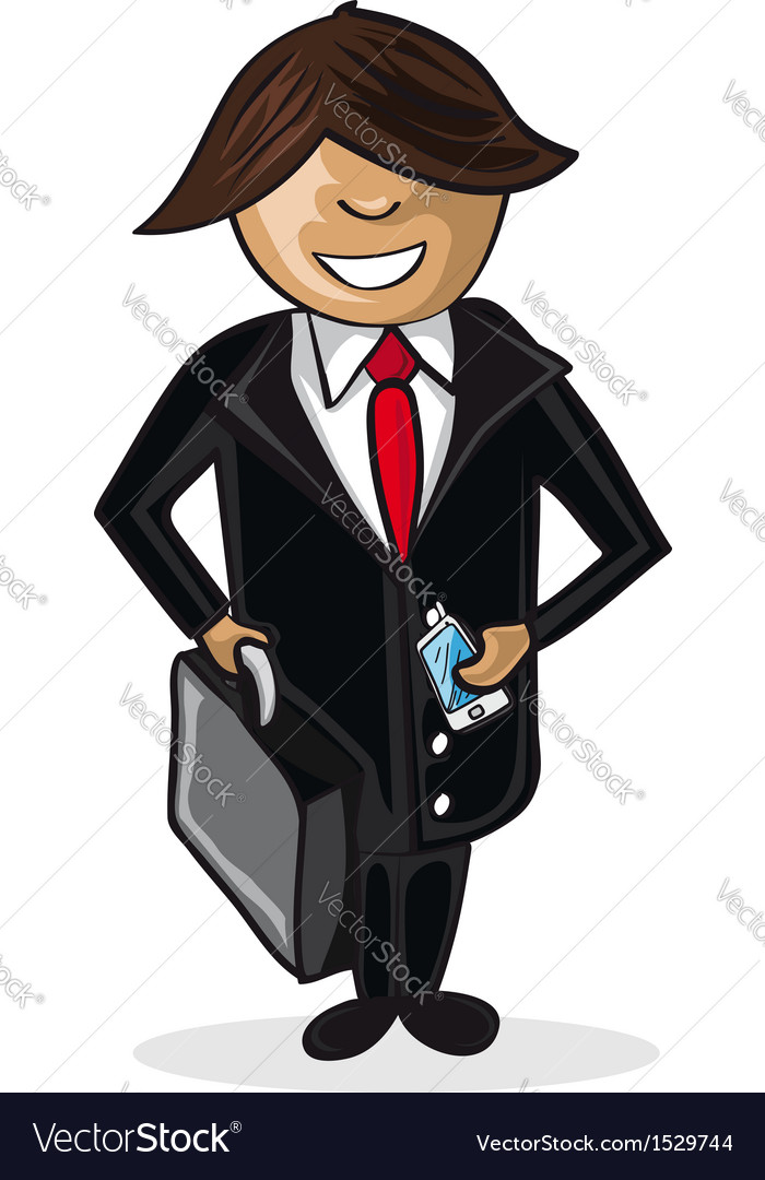 Profession businessman cartoon figure vector | Price: 1 Credit (USD $1)