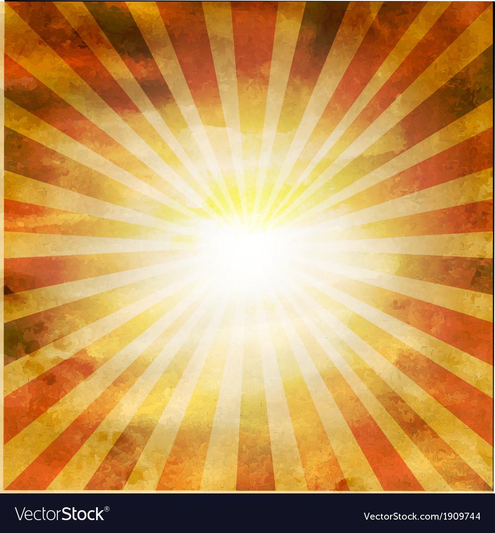 Retro square shaped sunburst vector   Price: 1 Credit (USD $1)