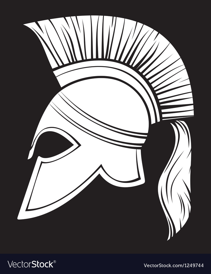Spartan helmet vector | Price: 1 Credit (USD $1)