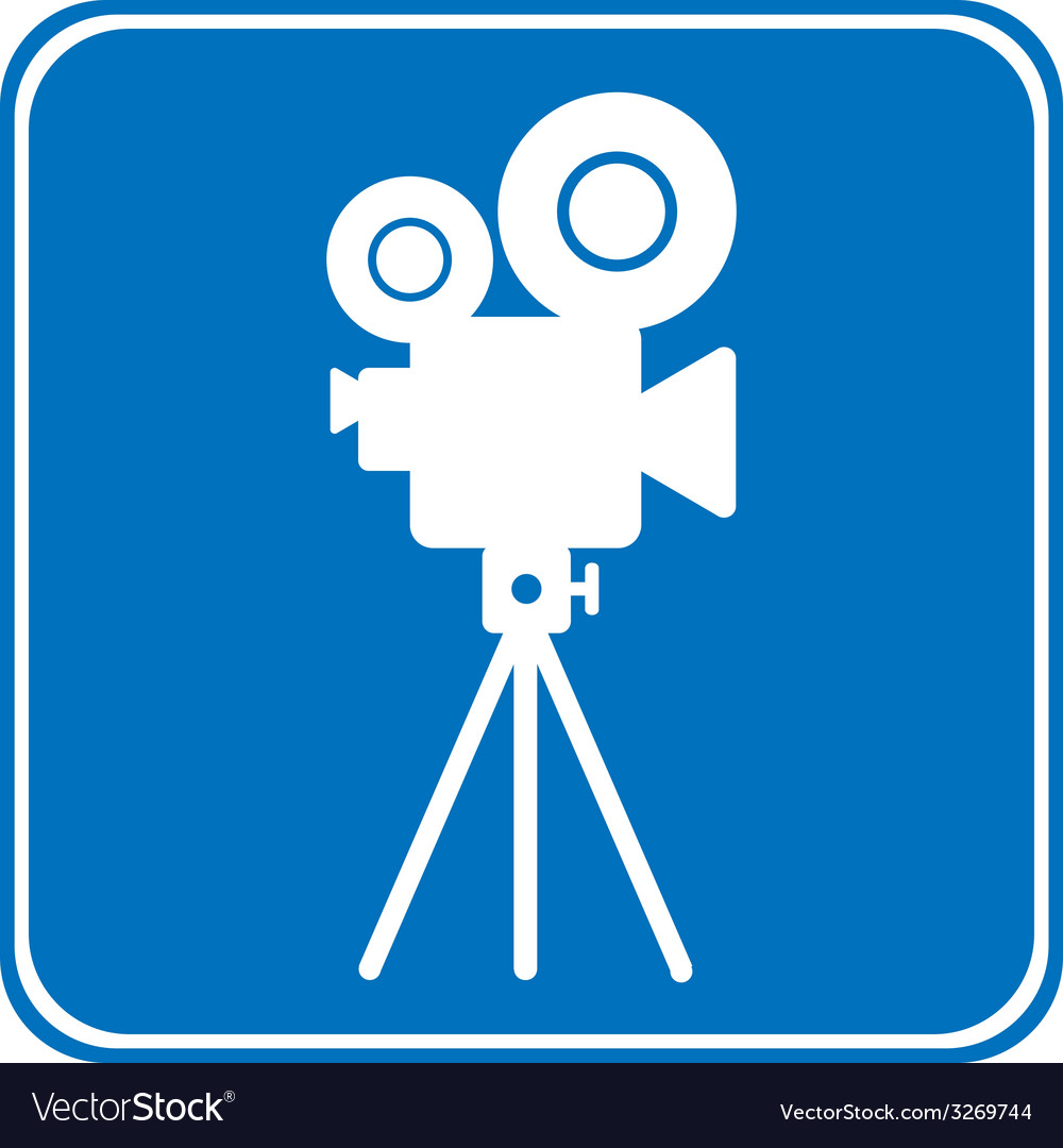 Video camera allowing sign vector | Price: 1 Credit (USD $1)