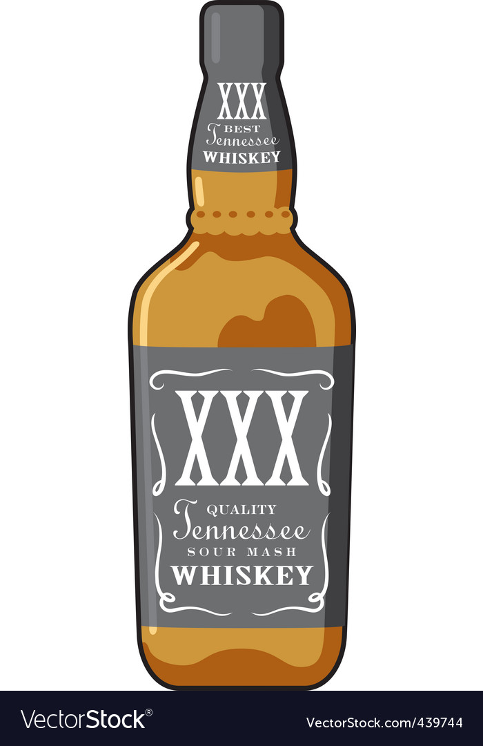 Whiskey bottle vector | Price: 1 Credit (USD $1)