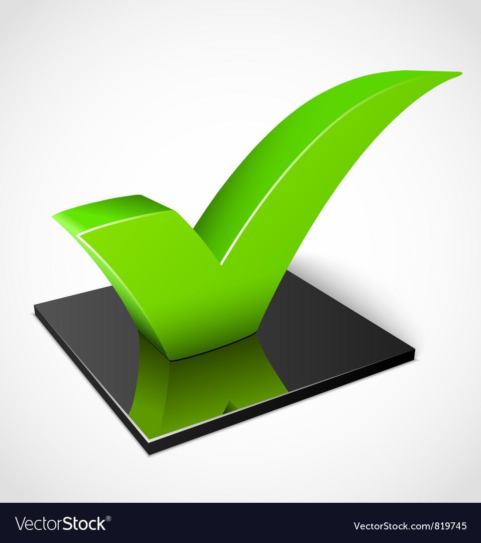 3d green check mark symbol vector   Price: 1 Credit (USD $1)
