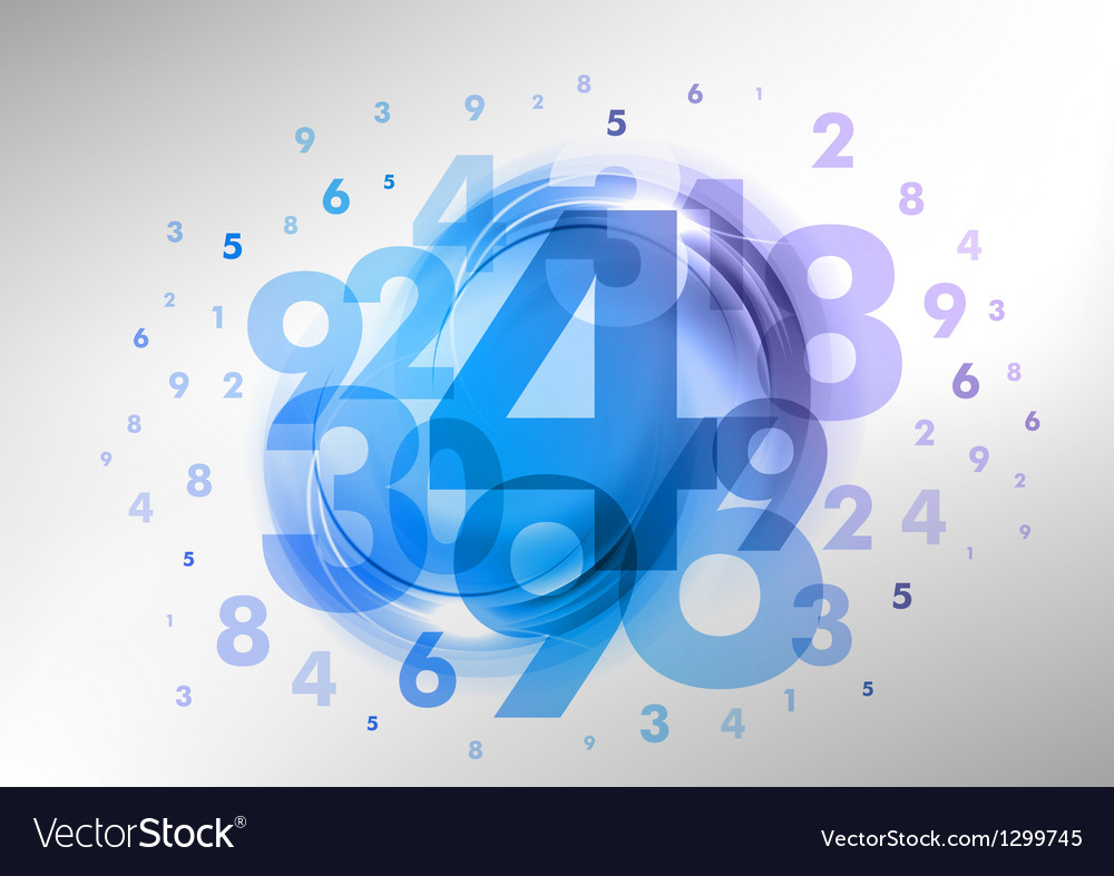 Abstract numbers blue vector | Price: 1 Credit (USD $1)