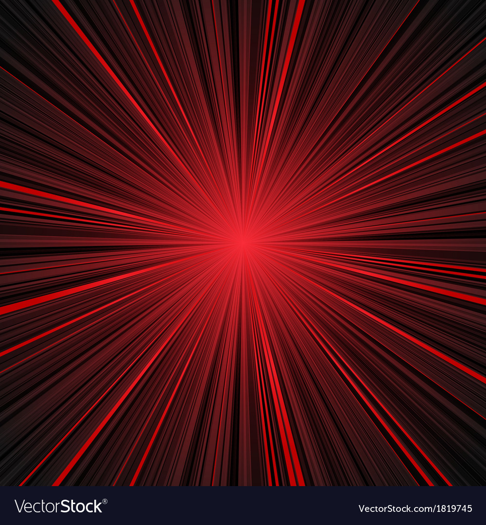 Abstract red and black stripes burst background vector | Price: 1 Credit (USD $1)