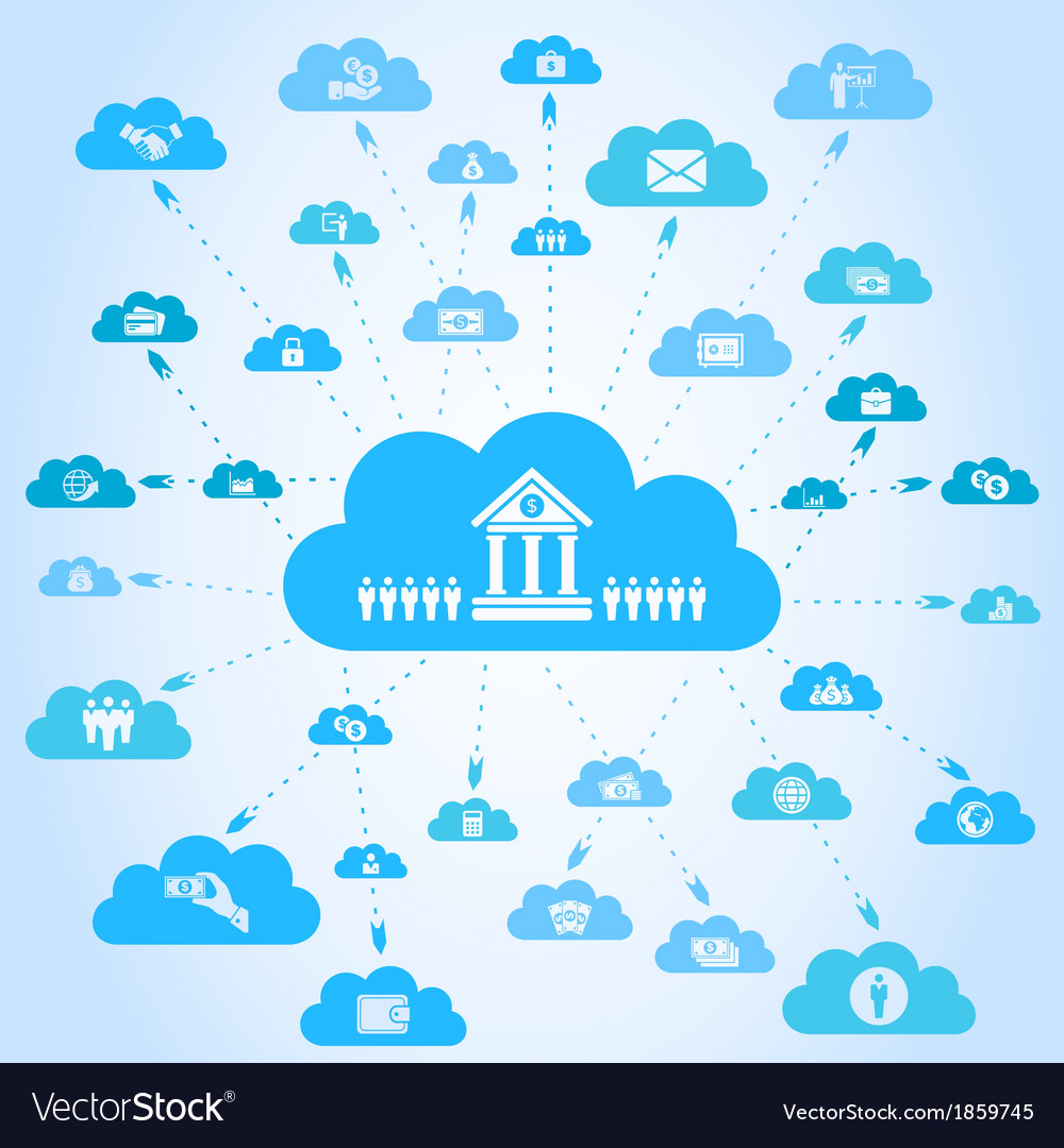 Business a cloud3 vector | Price: 1 Credit (USD $1)