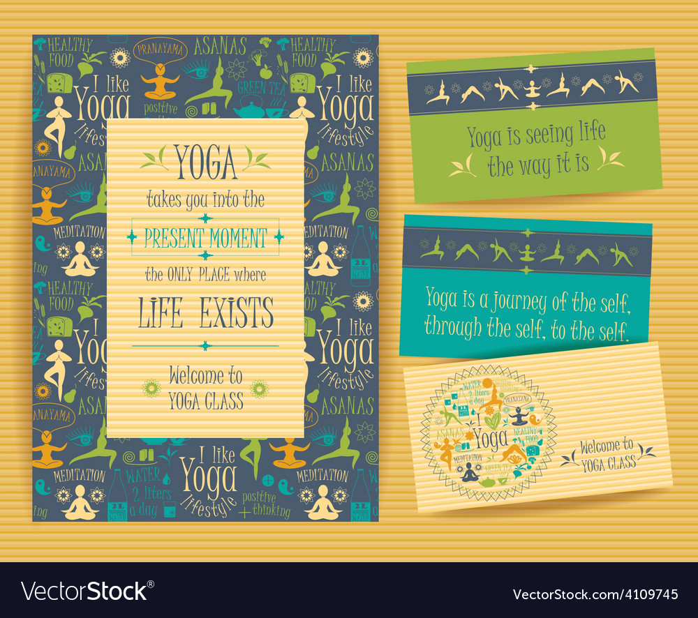 Design set for yoga class vector | Price: 1 Credit (USD $1)