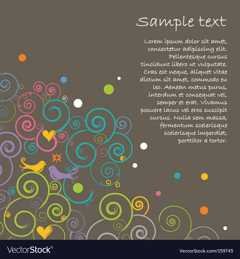 Floral layout vector | Price: 1 Credit (USD $1)