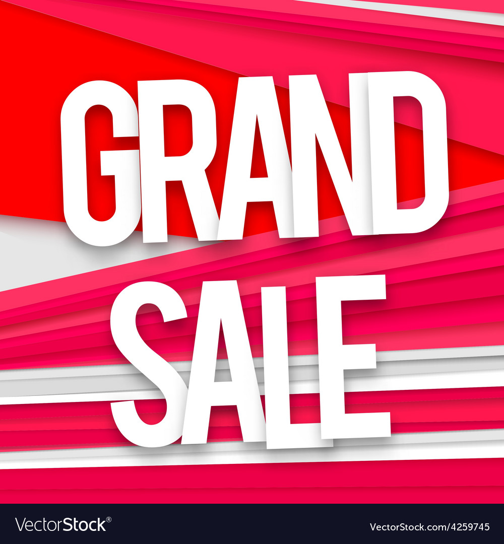 Grand sale banner vector | Price: 1 Credit (USD $1)