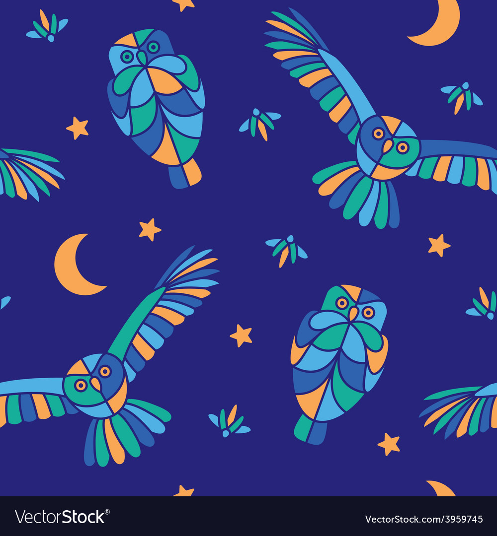 Magic midnight - seamless pattern vector | Price: 1 Credit (USD $1)