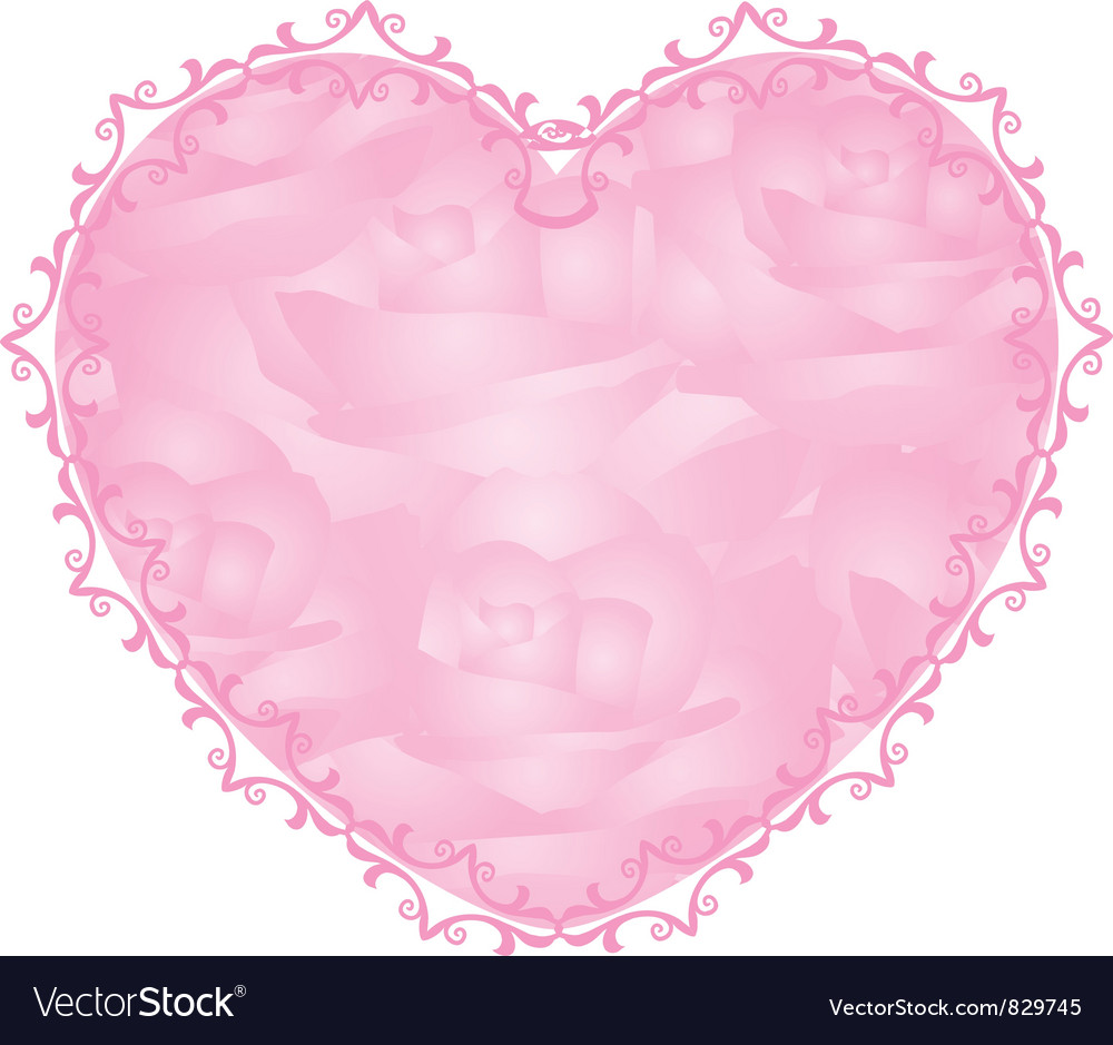 Pink heart - notepaper vector | Price: 1 Credit (USD $1)