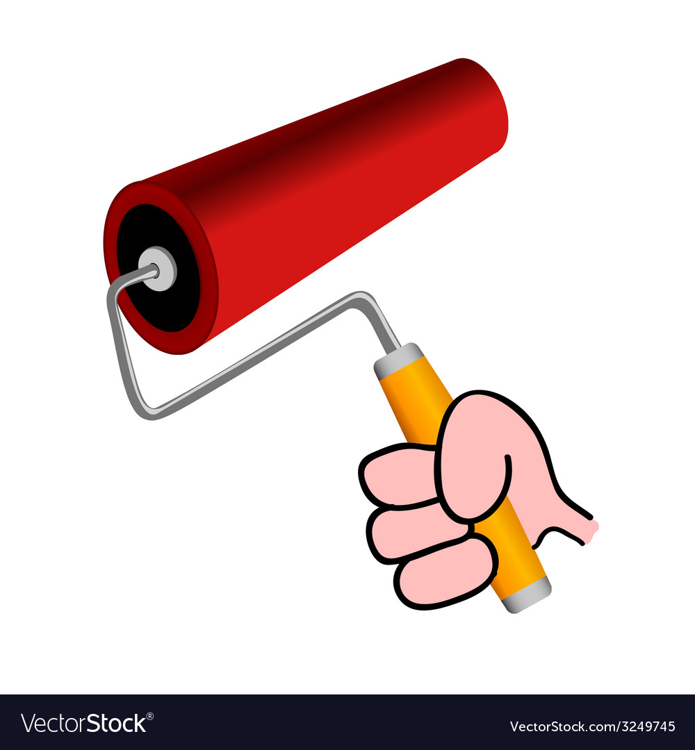 Roller for painting color vector | Price: 1 Credit (USD $1)