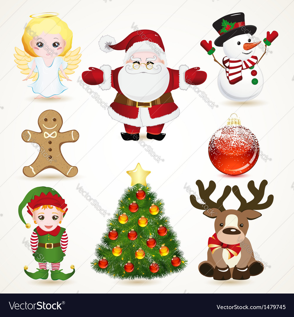 Set of christmas icons vector | Price: 3 Credit (USD $3)