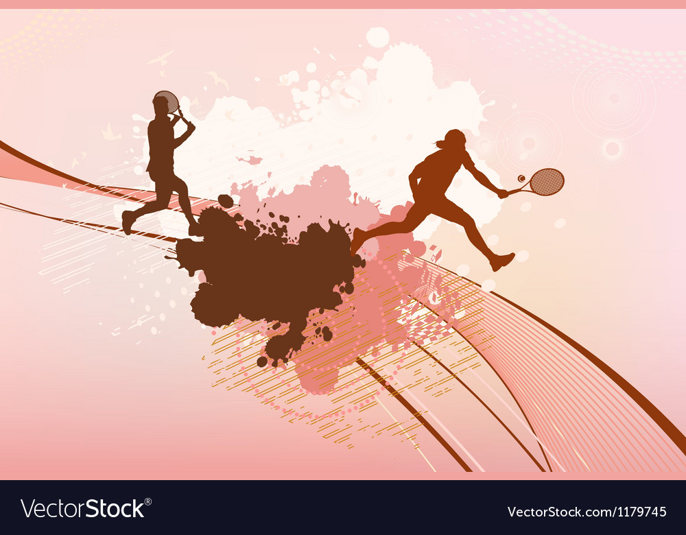 Tennis players background vector | Price: 1 Credit (USD $1)