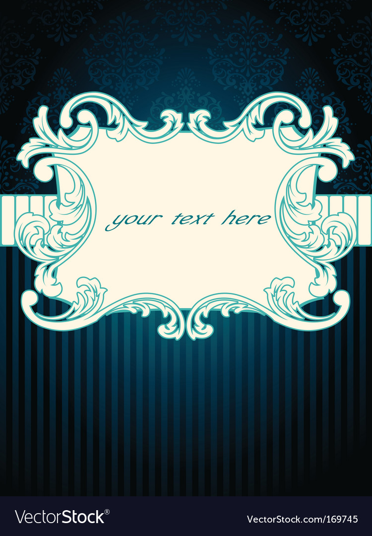 Vintage rococo label vector | Price: 1 Credit (USD $1)