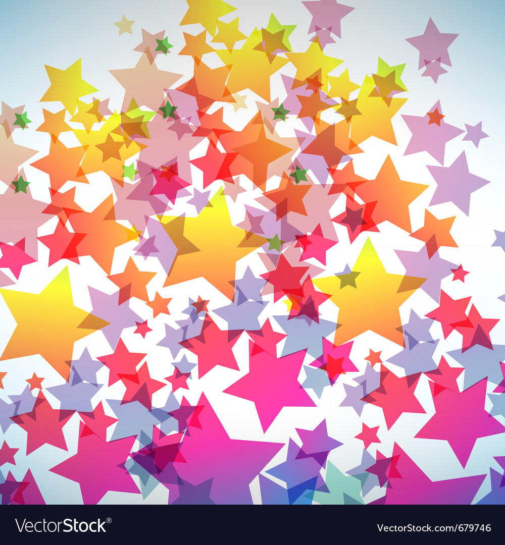 Abstract colorful star background vector | Price: 1 Credit (USD $1)