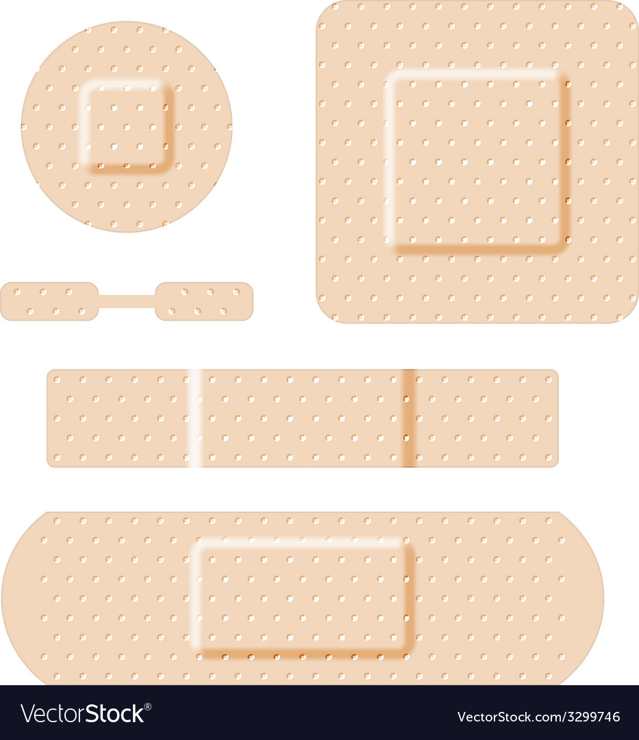 Adhesive bandages set vector | Price: 1 Credit (USD $1)