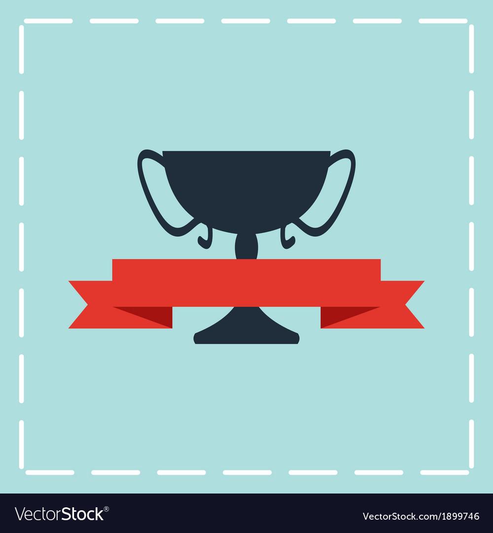 Black trophy icon vector | Price: 1 Credit (USD $1)