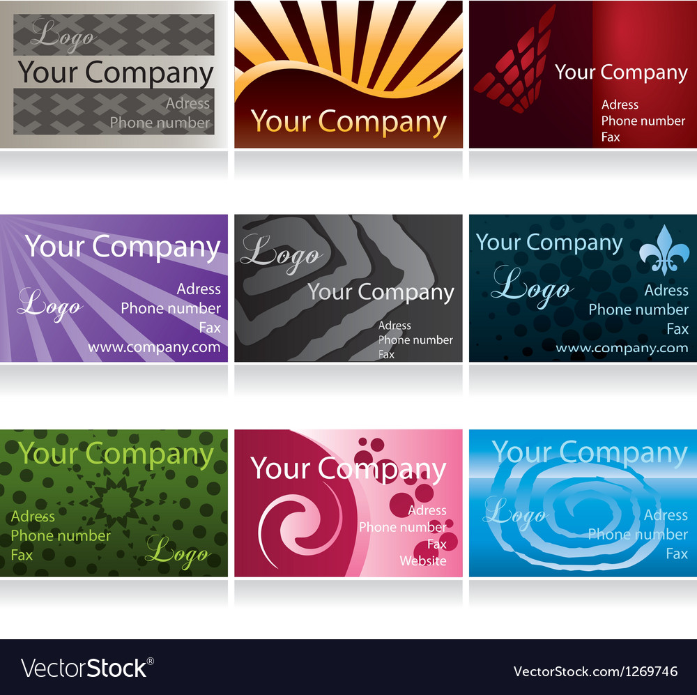 Business cards set ii vector | Price: 1 Credit (USD $1)