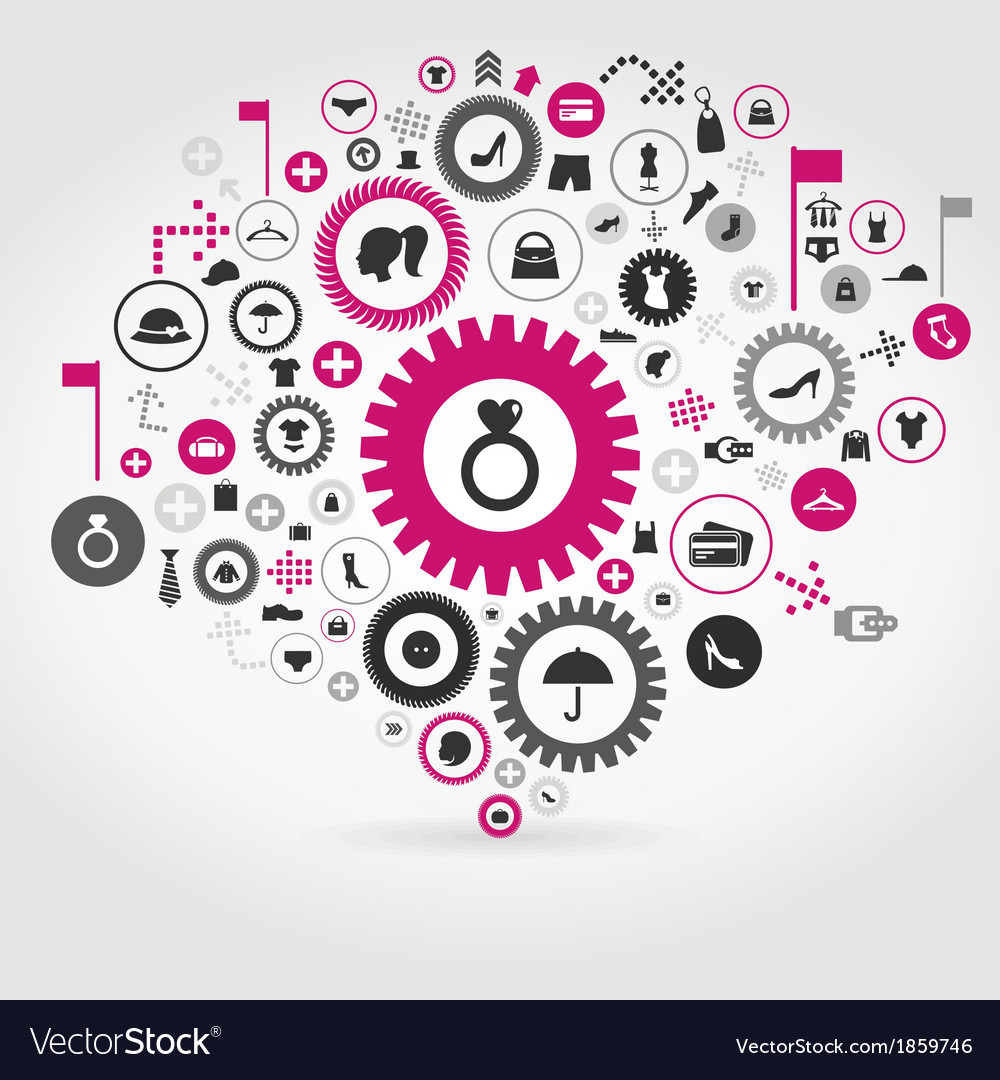 Clothes a gear wheel vector | Price: 1 Credit (USD $1)