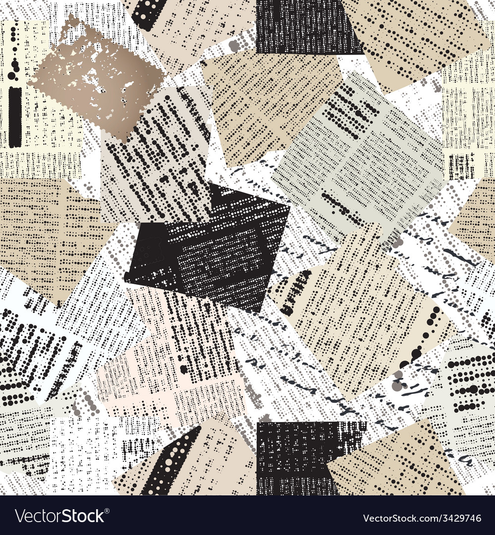 Collage of patches newspaper vector | Price: 1 Credit (USD $1)