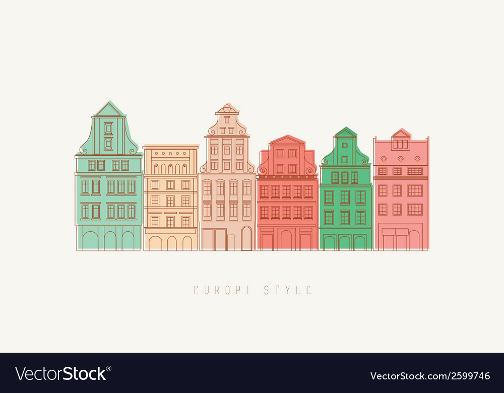 Europe city background vector | Price: 1 Credit (USD $1)