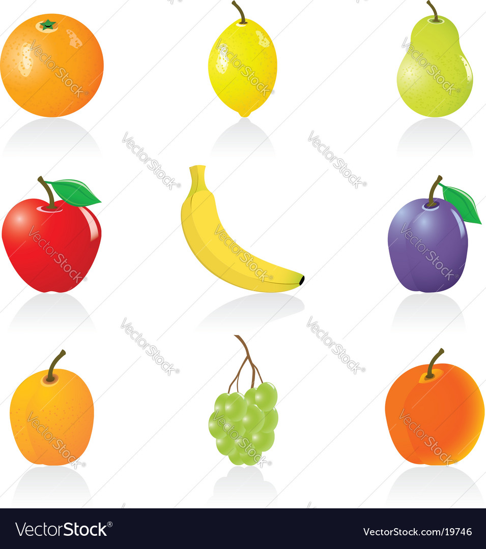 Fruits icons vector | Price: 3 Credit (USD $3)