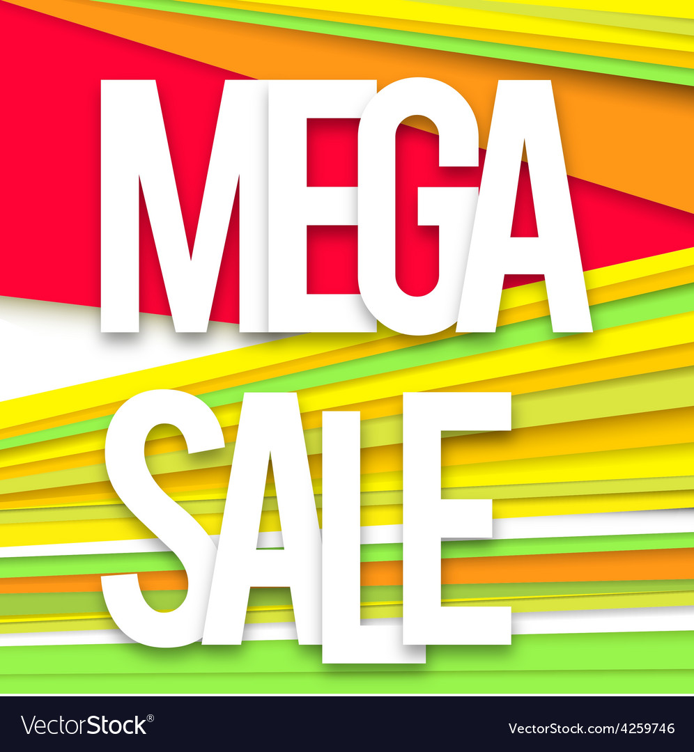 Mega sale banner vector | Price: 1 Credit (USD $1)