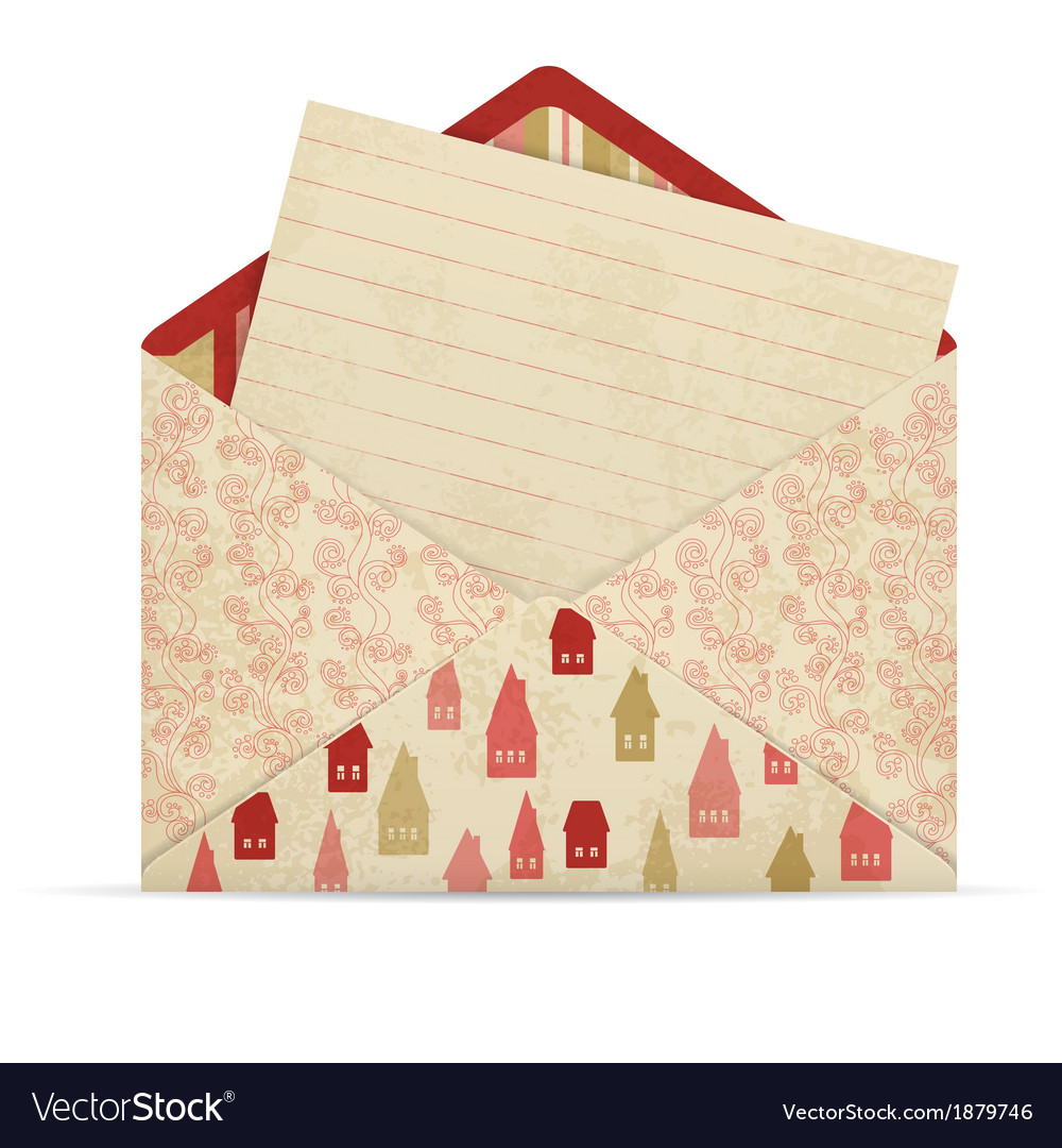 Open envelope with letter vector   Price: 1 Credit (USD $1)