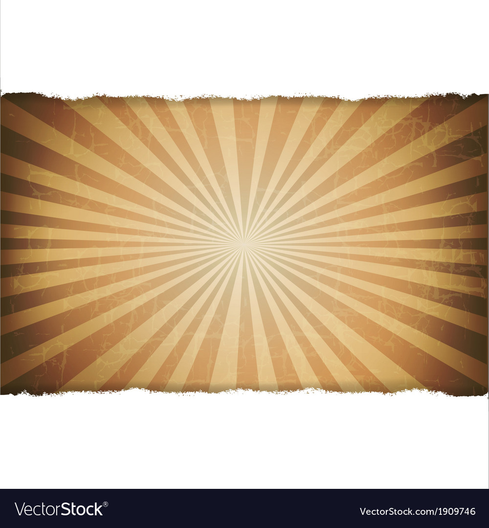 Rip white paper with sunburst old background vector | Price: 1 Credit (USD $1)