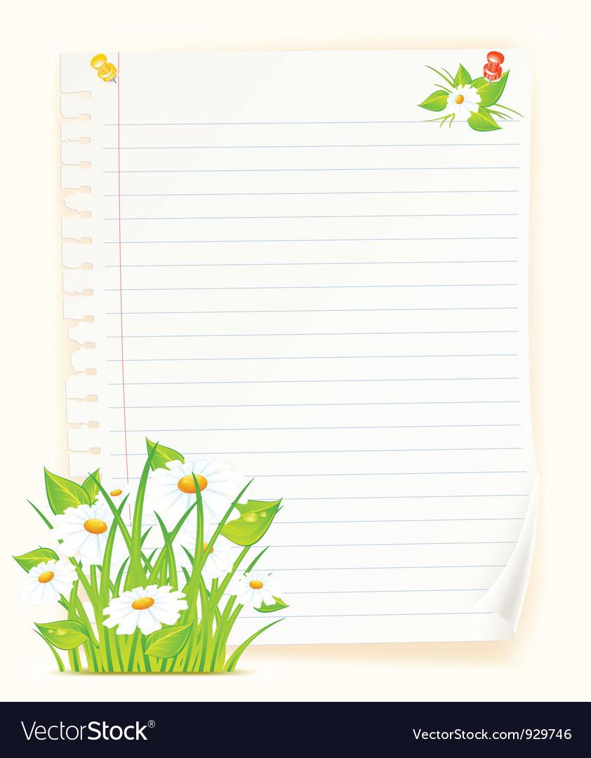 Spring green paper board vector | Price: 3 Credit (USD $3)
