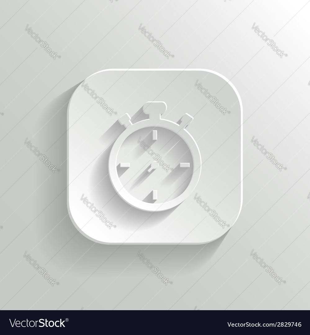 Stopwatch icon - white app button vector | Price: 1 Credit (USD $1)