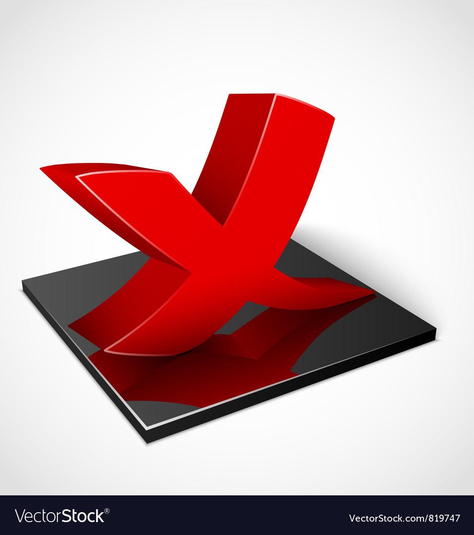 3d red check mark symbol vector | Price: 1 Credit (USD $1)