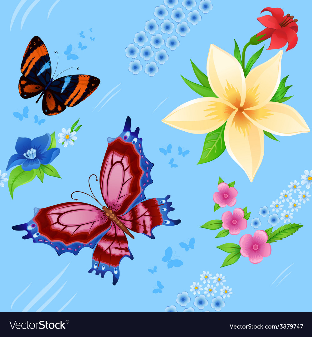 Background of colorful butterflies flying vector   Price: 1 Credit (USD $1)