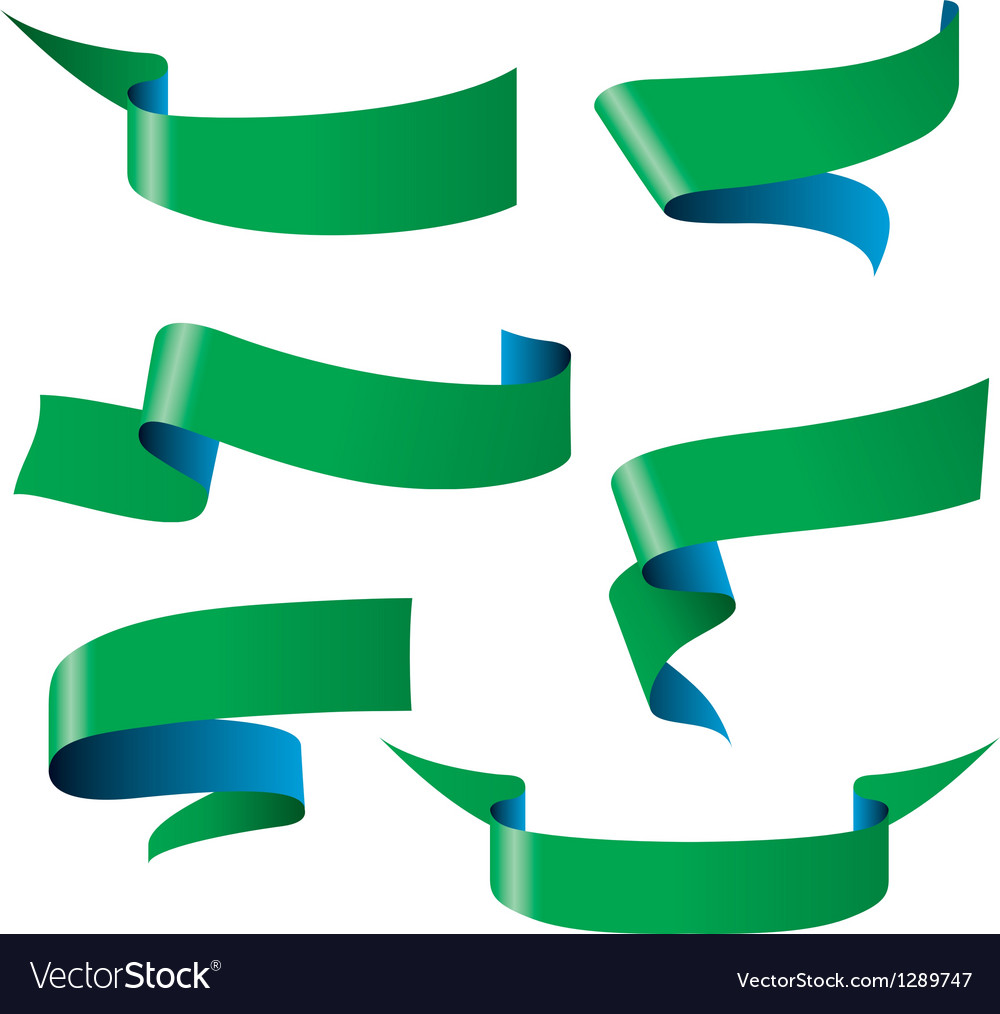 Blue green ribbon patterns vector   Price: 1 Credit (USD $1)