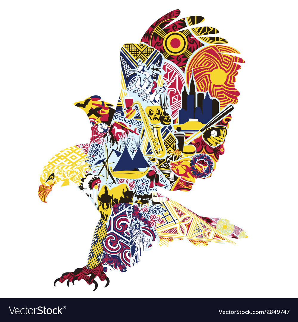 Eagle miniatures symbolizing america vector