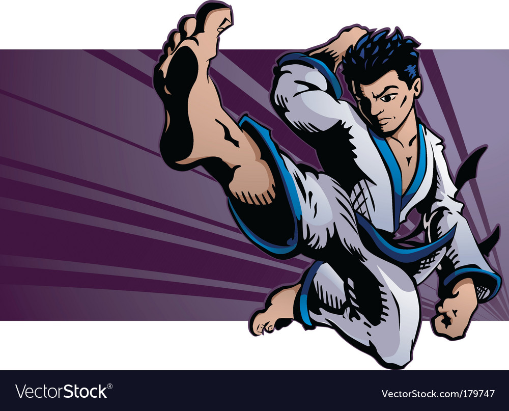 Karate kick vector | Price: 3 Credit (USD $3)
