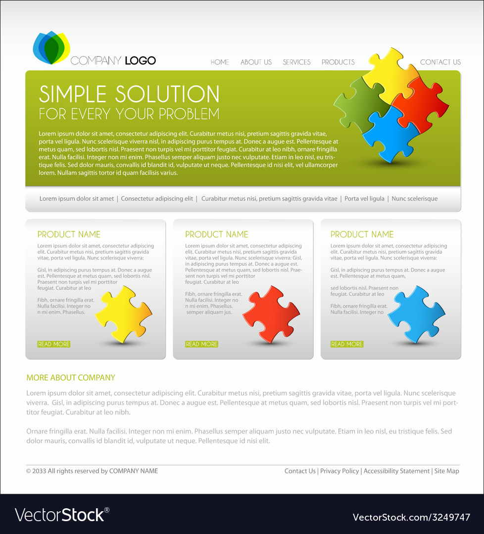 Modern web page template vector | Price: 1 Credit (USD $1)