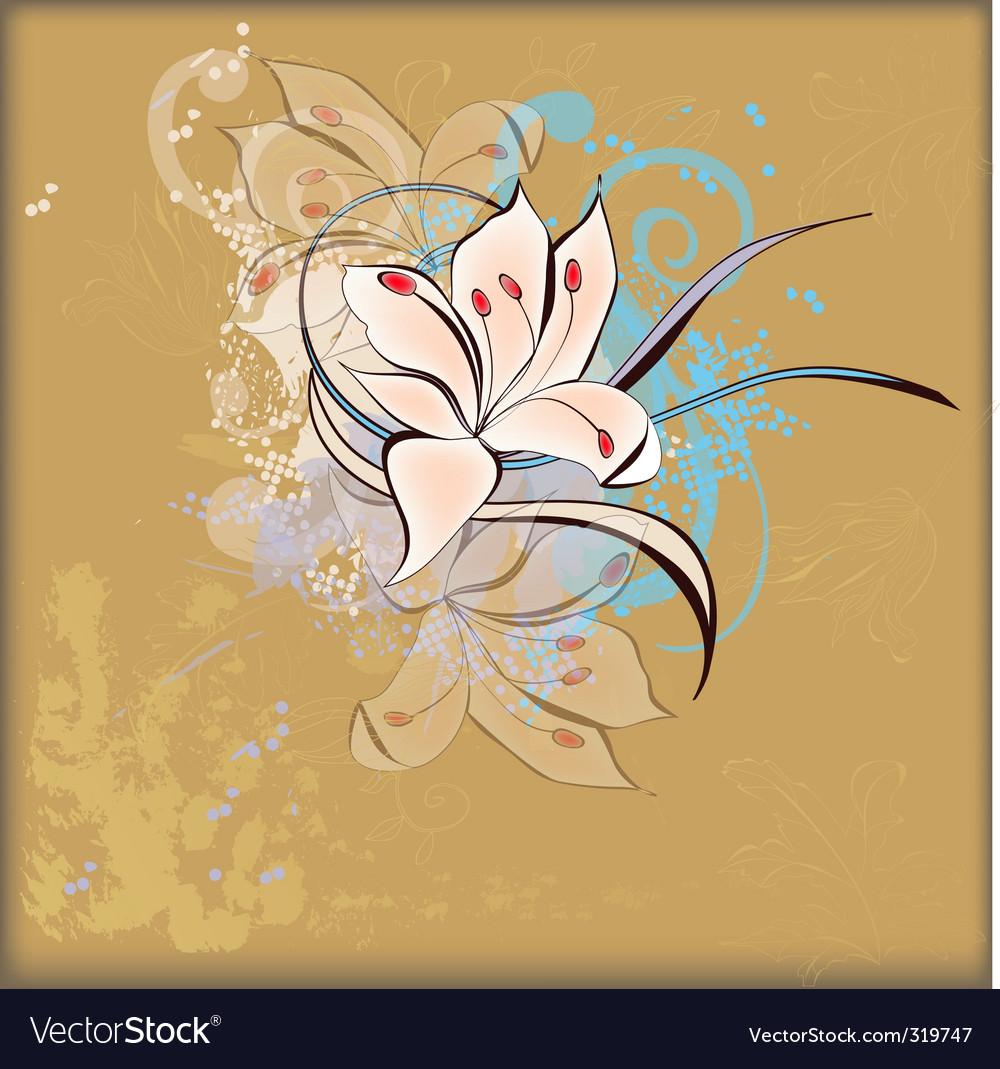 Retro floral vector | Price: 3 Credit (USD $3)